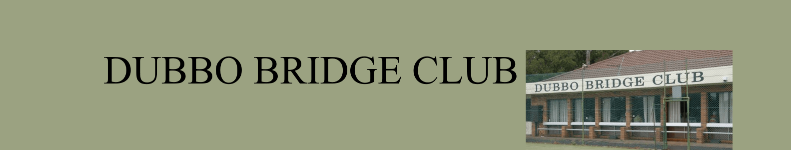Results from Dubbo Bridge Club games