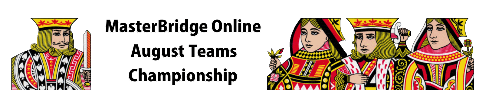 MasterBridge Online August Teams Championship Results page