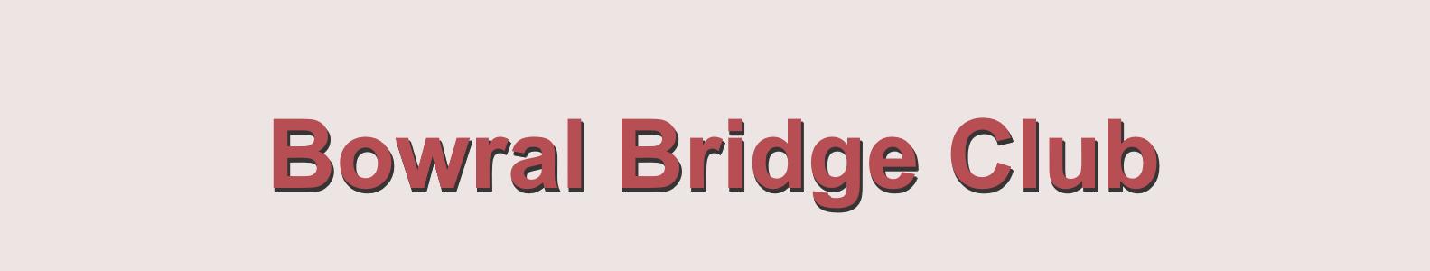 How to Enter Bowral Bridge Club Games