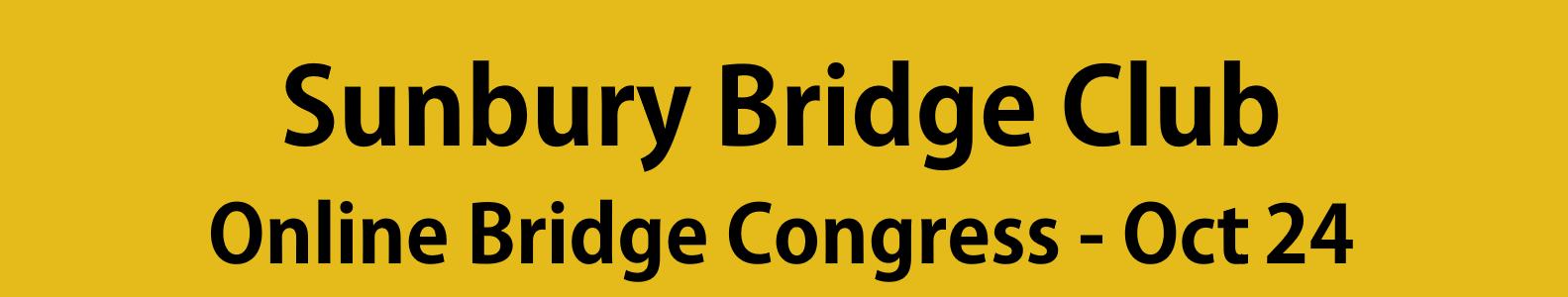 Sunbury Online Pairs Congress – Oct 24 – Confirmed entries